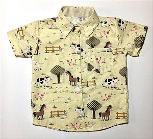 Camisa Infantil Temática Fazendinha