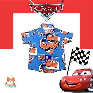 Camisa Infantil Temática Carros Disney