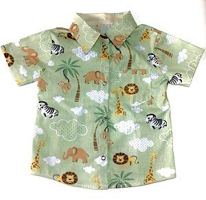 Camisa Infantil Temática Safari