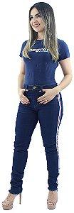 Calça Jeans Feminina com Listras Laterais Ref.1011