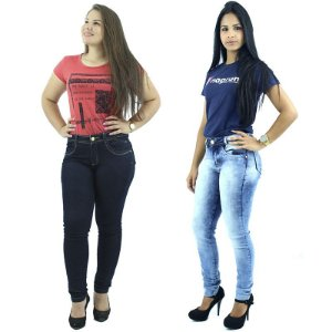 Combo com 2 Calças Jeans Skinny Premium