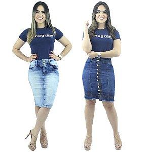 Kit de 2 Saias Jeans Secretária