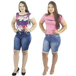 Conjunto de 2 Bermudas Jeans azul Tons Diferentes