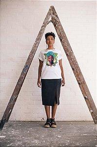 Camisa estampada Tereza de Benguela - AJUSTADA