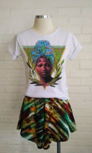 Camisa estampada Tereza de Benguela