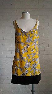 Vestido Vida c/ Barra - Est.  Floral Amarelo