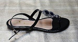 Sandália enfeite prata  ra-40