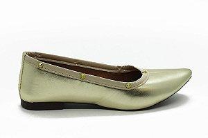 Sapatilha bico fino ouro com BF-01-SPIKE-OURO