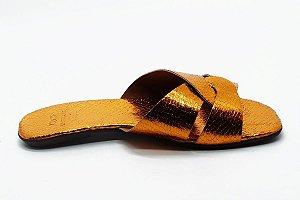 Rasteira fabricação própria laranja bq-03