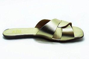 Rasteira fabricação própria ouro light  bq-03