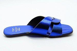 Rasteira fabricação própria azul  bq-03