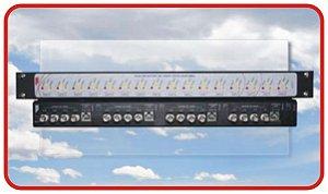 HUB-016P Hub receptor de vídeo passivo para CFTV, CVBS e HD com 16 portas. Não acompanha os Transmissores.