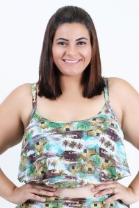 Top Cropped Babado Casinha Plus Size