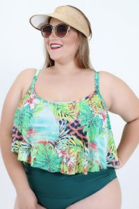 Top Croped Babado Plus Size