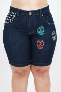 Bermuda Jeans Pedal Customizada Plus Size