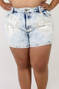 Short Jeans Customizado Plus Size