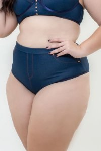 Calcinha Hotpants Jeans Plus Size