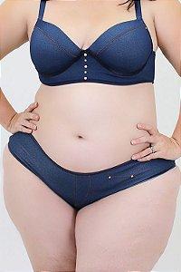 Calcinha Tanga  jeans Plus Size