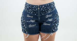 Shorts Jeans Customizado Plus Size