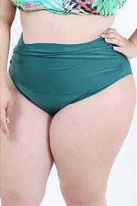 Tanga Hotpants Verde e Preta Plus Size