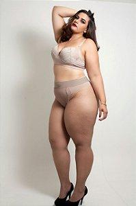 Meia calça arrastão Nude Plus Size
