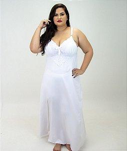 Camisola Longa Branca Plus Size