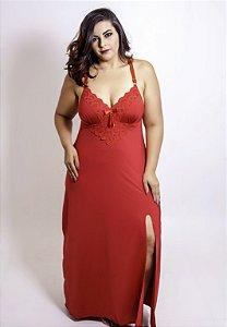 Camisola Longa Vermelha Plus Size