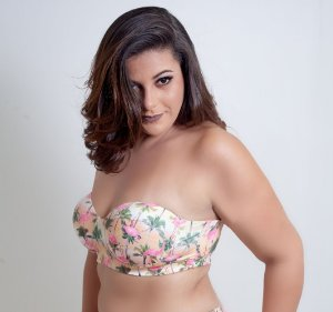 Top Tomara que Caia Flamingo Plus Size