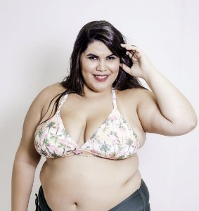 Top Cortininha Elasticado Flamingo Plus Size