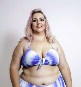 Top com Bojo Blue Lagoon Plus Size