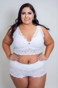 Calcinha Renda Calecon Plus Size