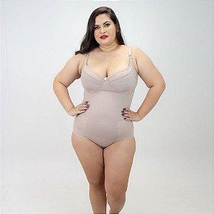 Modelador Maravilha Sem Bojo Chocolate  Plus Size