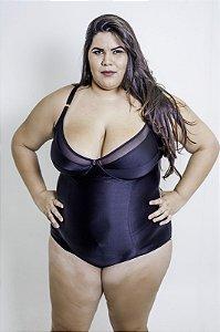 Modelador Maravilha Sem Bojo  Preto  Plus Size