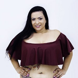 Top Croped Ciganinha Liso Plus Size