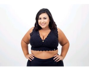 Sutiã Croped Sissia Renda Plus Size