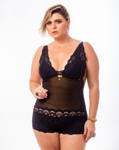 Body Sissia Ouro Plus Size