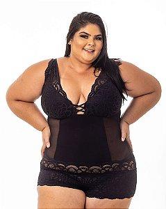 Body Sissia Preto Plus Size