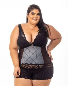 Body Sissia Prata Plus Size