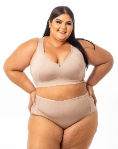 Top Croped Regina NUDE Plus Size