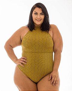 Maiô Fio Mayara Ouro Plus Size