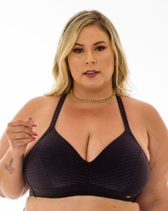 Top Aline Preto Plus Size