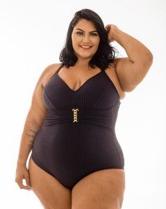 Maiô Karina Preto Plus Size
