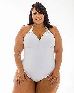 Maiô Marina Branco Plus Size