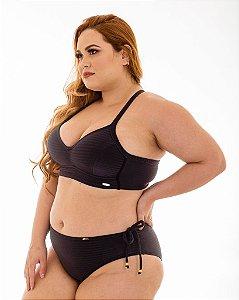 Tanga Fernanda Preta Plus Size