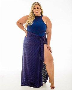 Saia Amanda Azul Plus Size