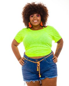 Blusa Vibe Colors Verde Plus Size
