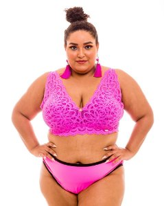 Top Sissia Pink Plus Size