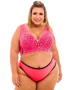 Top Sissia Laranja Plus Size