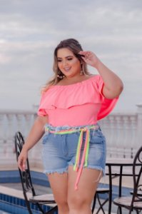 Short  Jeans Vibe Colors Plus Size