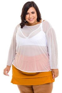 Blusa de Tule Plus Size